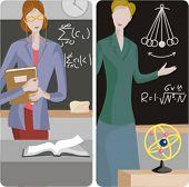 picture of physicist  - Teacher illustrations series 1 - JPG