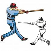 Постер, плакат: Бейсбол тесто Векторные иллюстрации