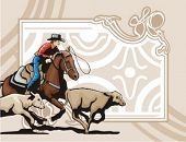 image of brahma-bull  - Western Rodeo Background Series - JPG