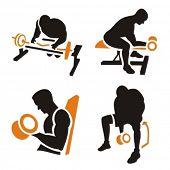 Постер, плакат: Фитнес векторных иконок серии