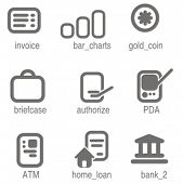 Accounting icons set 5. Check my portfolio for many more images from this series.