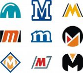 stock photo of letter m  - Alphabetical Logo Design Concepts - JPG