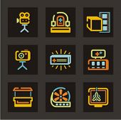 Advertising icons set. Check my portfolio for much more of this series as well as thousands of simil