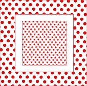 image of poka dot  - seamless flower background with dots - JPG