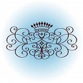 stock photo of scrollwork  - crown with coils - JPG