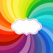 foto of color wheel  - Vibrant swirl of colors with label  - JPG