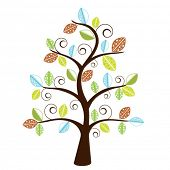 decorative whimsical tree - funky leaves