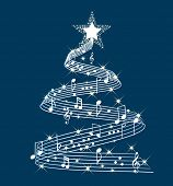 stock photo of serenade  - musical christmas tree - JPG
