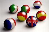 Europe Flag Balls poster