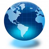 picture of world-globe  - Globe of the World - JPG