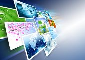 image of internet  - Television and internet production technology concept - JPG