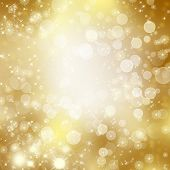image of descending  - stars descending on golden background - JPG
