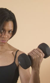 picture of lifting weight  - woman lifting weight - JPG