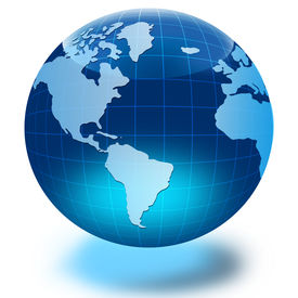 stock photo of world-globe  - Globe of the World - JPG