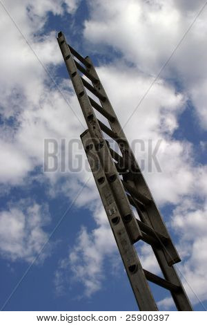 Ladder to success, representing climbing the corporate ladder, the skys the limit, success etc