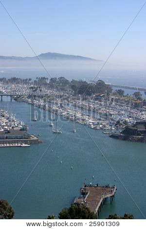 Dana Point harbor in southern california U.S.A.