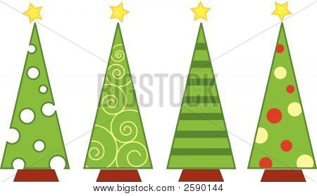 Vector Christmas Tree Isolated