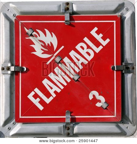 "DOT/IMO HAZARDOUS MATERIALS PLACARDS ""flammable 3"""