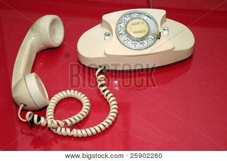 "1960's era ""princess"" rotary telephone"