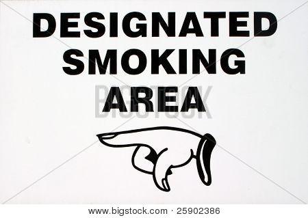 sinal de área de fumar