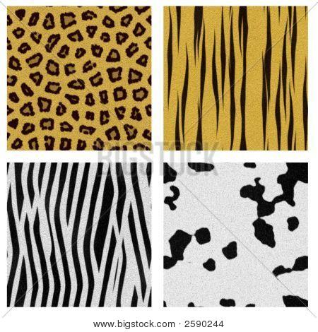 Four Animal Skin Seamless Pattern