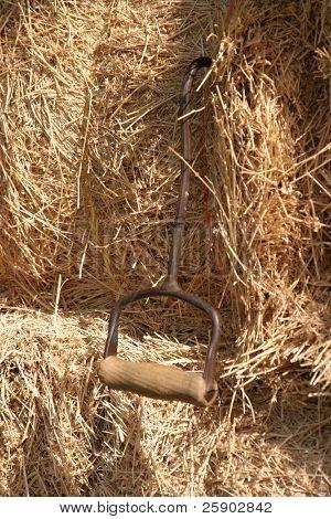 hay bails with hay hook