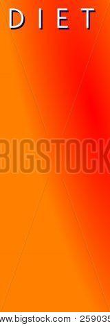Diet Orange Vertical  Banner