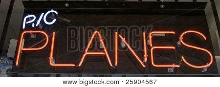 Neon Sign series r/c planes