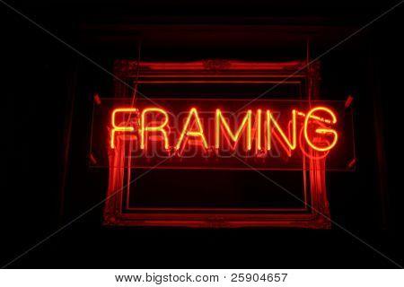 Neon Sign series  framing
