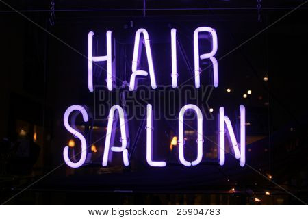"""neon sign series"" ""hair salon"""