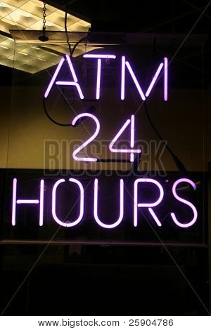 """neon sign series"" ""atm 24 hours"""