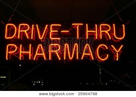 """neon sign series"" ""drive through parmacy"""
