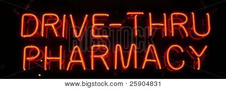 """neon sign series"" ""drive-thru pharmacy"""