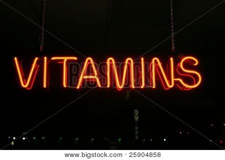 """neon sign series"" vitamins"
