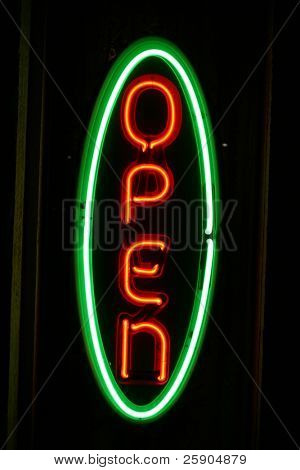 """neon sign series"" ""open"""