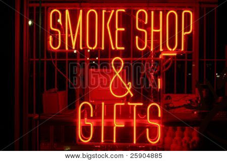 """neon sign series"" ""smoke shop & gifts"""