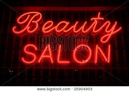 """""""neon sign"""" series """"beauty salon"""""""
