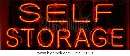 """neon sign"" series ""self storage"""