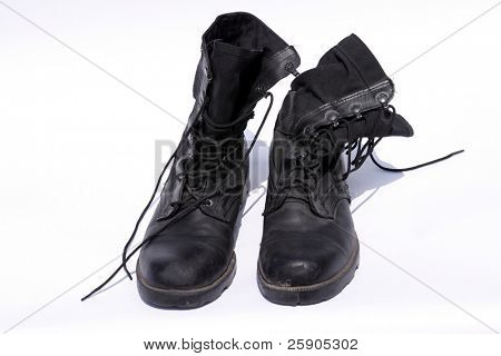 "isolated ""combat boots"" isolated on white"
