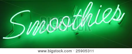"""neon sign series""  smoothies"