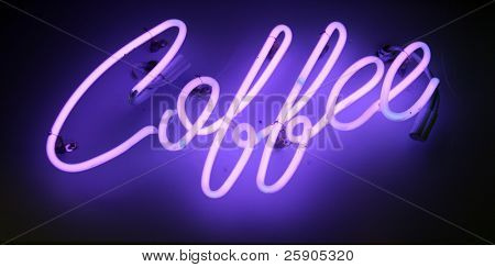 neon sign series coffee