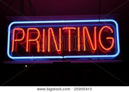 "Neon Sign Series ""printing"""