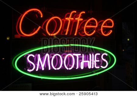 """Neon Sign Series """"coffee smoothies"""""""