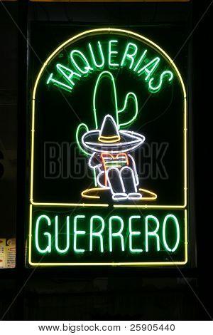 """Neon Sign Series """"taquerias guerrero"""""""