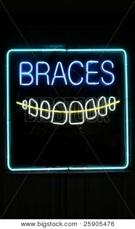 "Neon Sign Series ""braces"""
