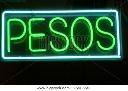 "Neon Sign Series ""pesos"""
