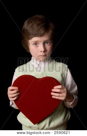 Young Boy With Valentine