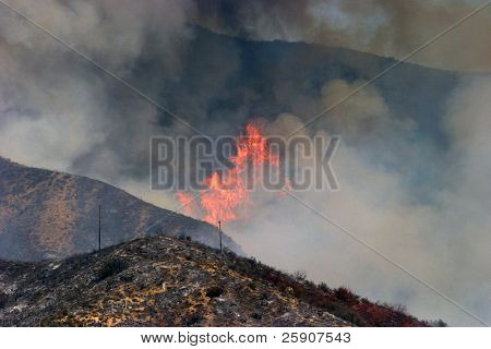 10-23-2007 Santiago Canyon Wild Fire as seen from Portola Hills