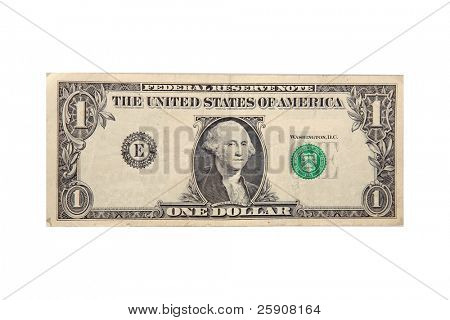 generic one dollar bill with the serial numbers removed for your text