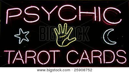 """psychic tarot cards"" ""neon sign"""
